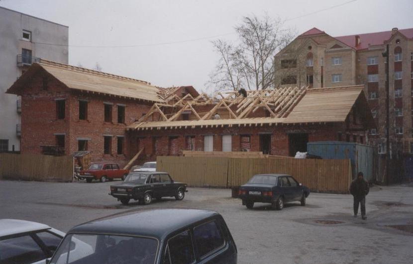 Реконструкция памятника архитектуры - пожарного депо, г.Ханты-Мансийск.