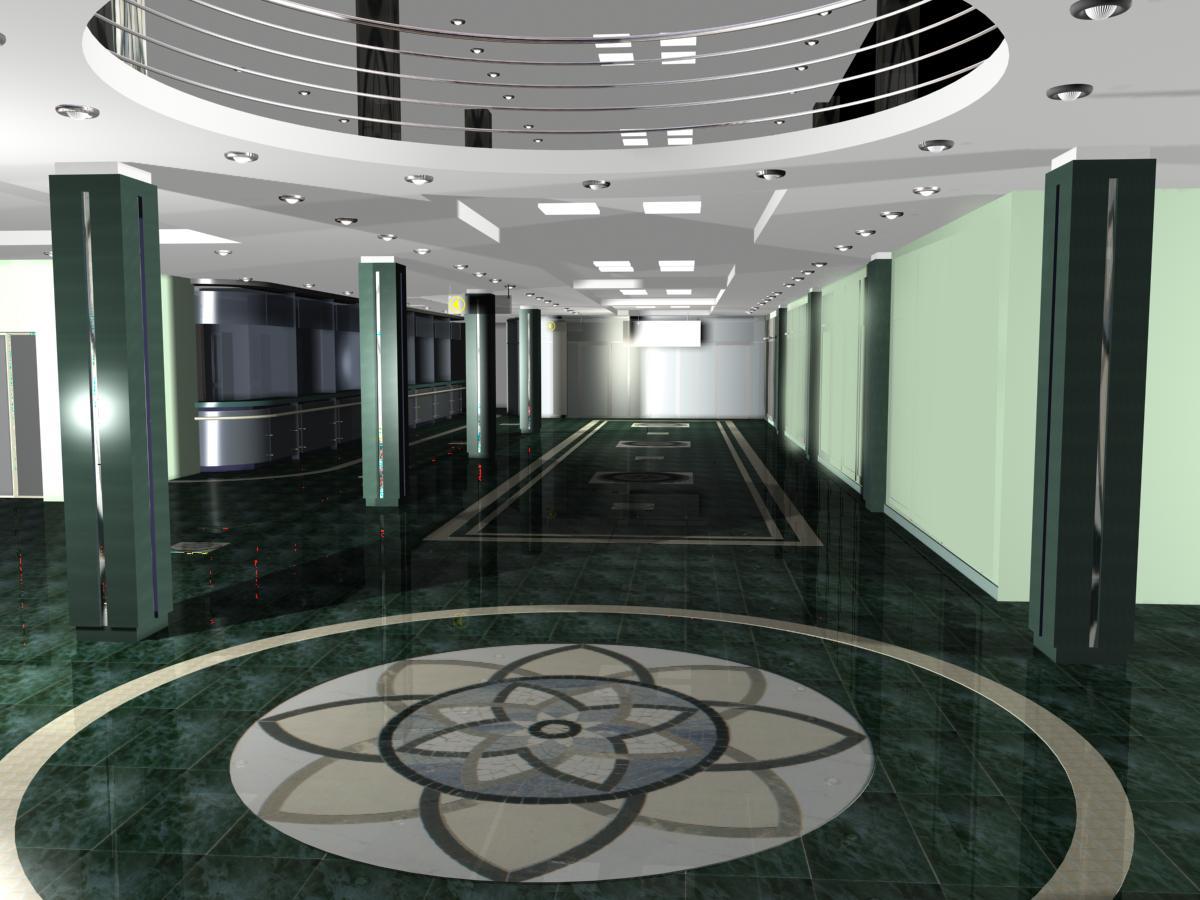 Холл Сибирского банка Сбербанка РФ