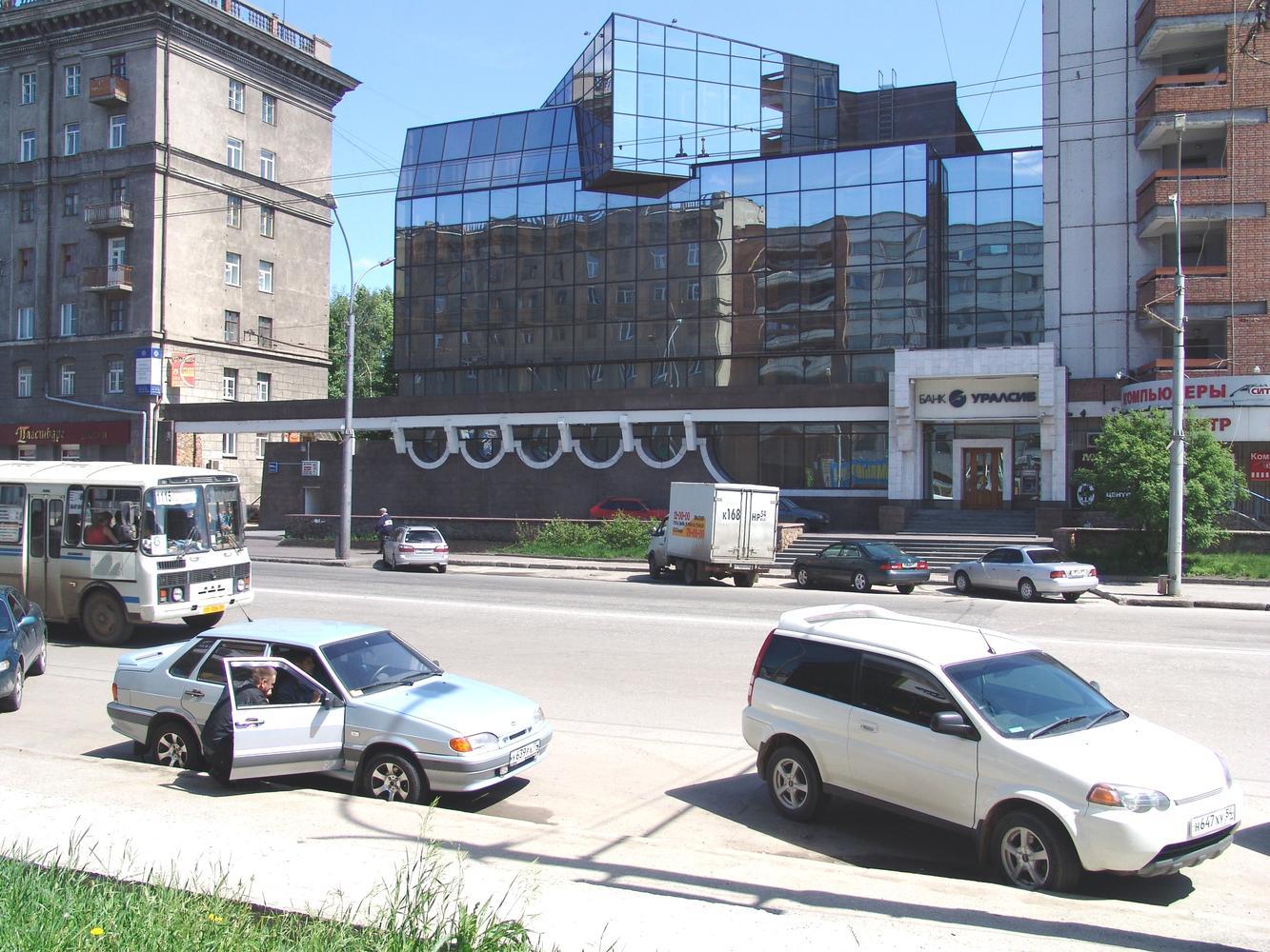 Реконструкция, надстройка, комплексный проект Новосибирского филиала «Башкредитбанк».