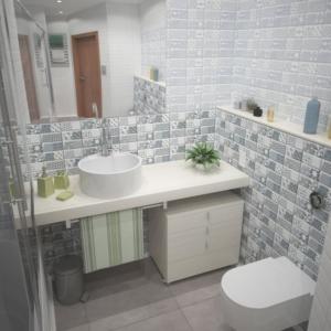 Ванная комната. Частный интерьер.