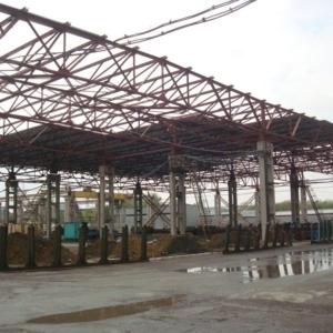 Реконструкция открытой крановой эстакады под теплый склад. ОАО «Фирма «Новосибметалл».