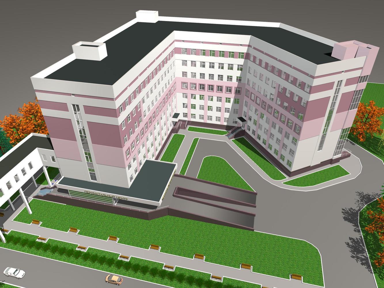 Проект перинатального центра, г. Новосибирск.